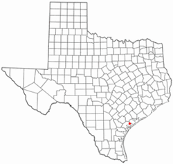 Location of Austwell, Texas