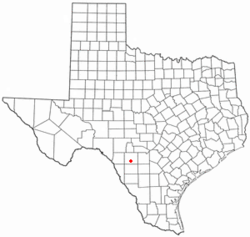 Location of Uvalde, Texas