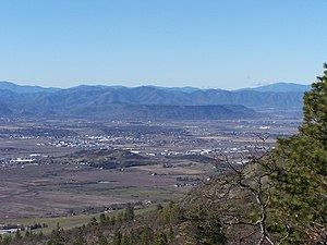 Upper and Lower Table Rock - Image: Table Rock from Roxy Ann
