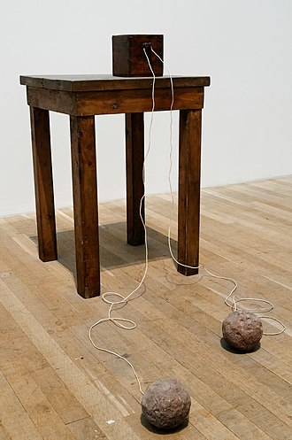 Joseph Beuys - Image: Table with Accumulator Beuys Tate Modern AR00603