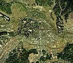 Taira district Iwaki city center area Aerial photograph.1975.jpg