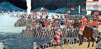 Kobayakawa Takakage - Siege of Takamatsu Castle.