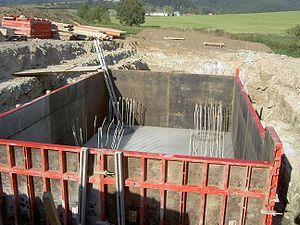 Formwork - Modular steel frame formwork for a foundation