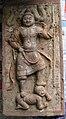 Tang Dynasty Painted Panel--Tomb guardian subjugating a grimacing demon.JPG