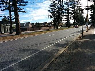 Tapleys Hill Road - Tapleys Hill Road at Glenelg North, facing north