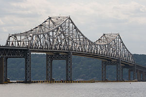 The Tappan Zee Bridge as seen in Tarrytown, NY