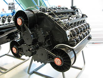 W18 engine - Tatra T955, air-cooled W18 engine from 1943.