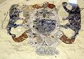 Tds, Palazzo dei Commissari o del Pretorio, cortile, stemma forse frescobaldi.JPG