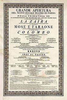 Poster for Nuovo's opening night (Source: Wikimedia)