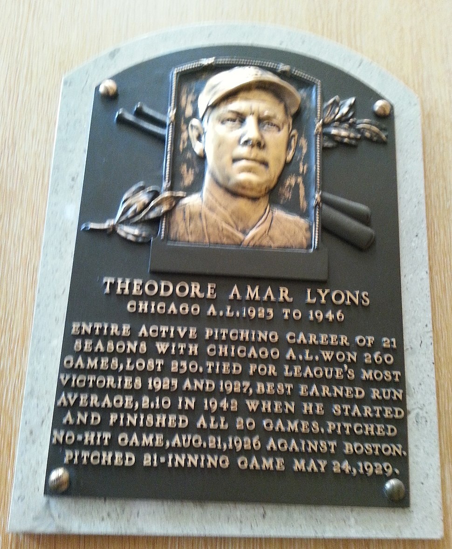 Ted Lyons plaque HOF