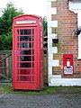 Telephone box and postbox, Upton Lovell - geograph.org.uk - 1150839.jpg