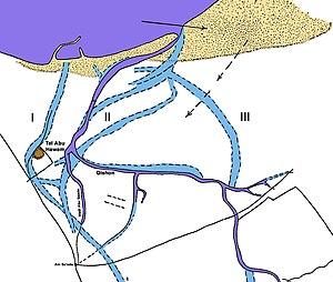 Tell Abu Hawam - Maparea with Tell Abu Hawam
