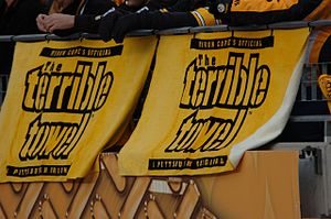Terrible Towel - Two Terrible Towels at a Pittsburgh Steelers game