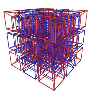 Tesseractic honeycomb - Image: Tesseractic tetracomb