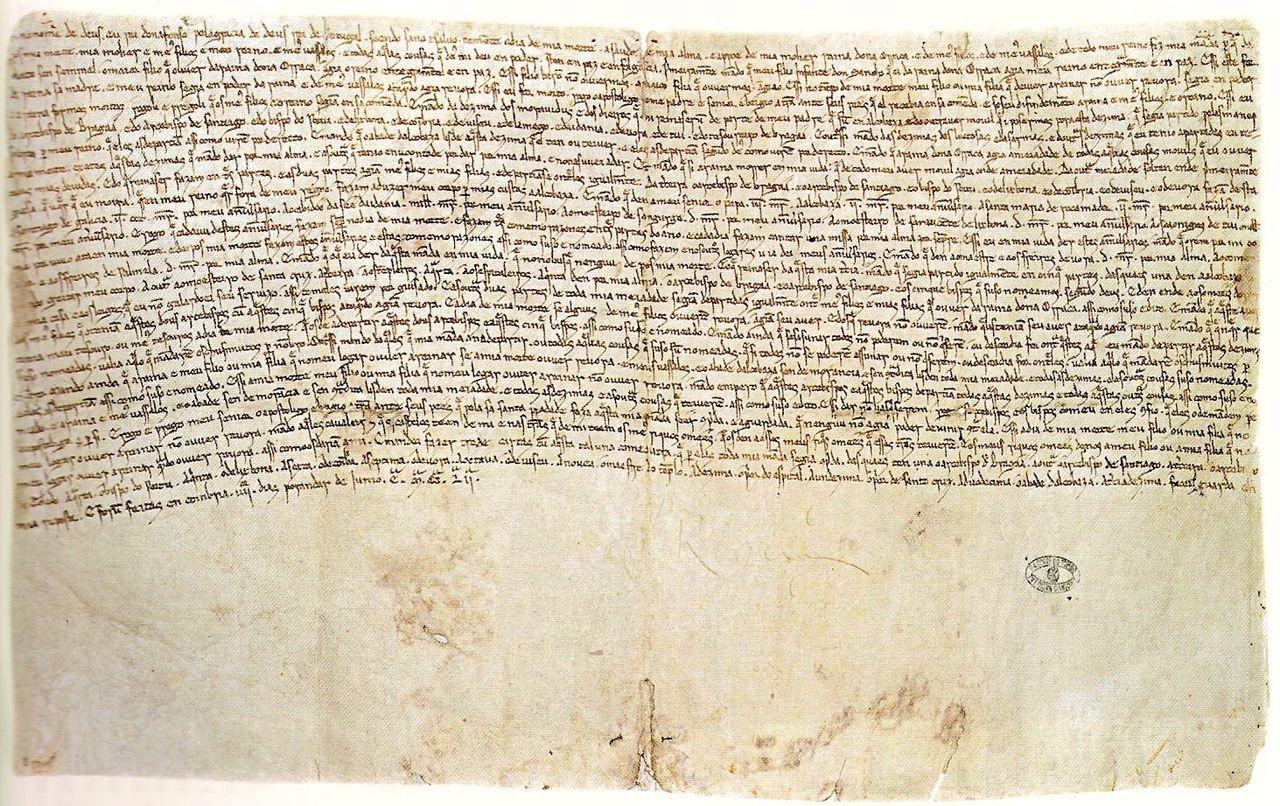 Testament König Alfons II aus Portugal