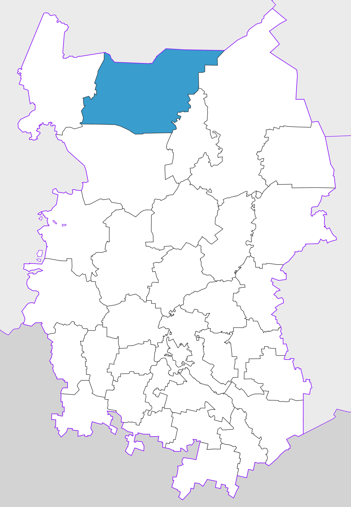 What is the federal district of Omsk, and where is it located 74