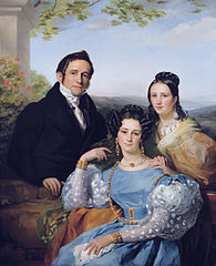 Théodore Joseph Jonet and his two daughters by Fran%C3%A7ois-Joseph Navez, 1787-1869
