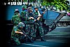Thai soldiers on 19 May 2010 during the crackdown on political protests