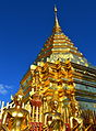 Thailand Wat Phra That Doi Suthep Temple Golden Mount with Buddha Statues.JPG
