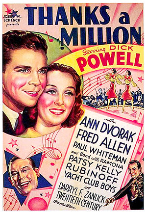 Thanks a Million - theatrical poster