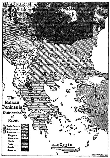 The Balkan Peninsula, Distribution of Races. EB 1911.png