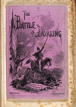 The Battle of Dorking - Front cover of the 1871 pamphlet edition of The Battle of Dorking