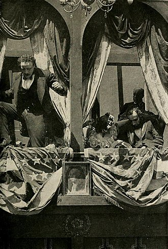 The Birth of a Nation - John Wilkes Booth assassinates President Abraham Lincoln as portrayed in the film.