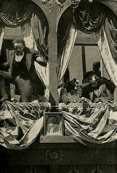 Scene from The Birth of a Nation (1915), the highest-grossing silent film in the United States