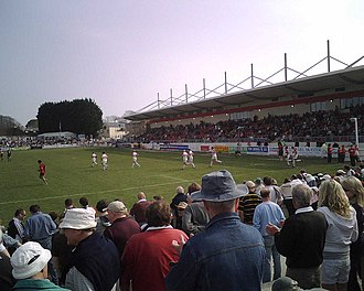Plymouth Albion R.F.C. - At match between Plymouth Albion and Cornish Pirates at The Brickfields in 2007