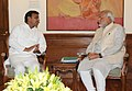 The Chief Minister of Uttar Pradesh, Shri Akhilesh Yadav calling on the Prime Minister, Shri Narendra Modi, in New Delhi on June 12, 2014.jpg