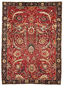 The Clark Sickle Leaf Vine Scroll And Palmette Carpet Probably Kirman 17th Century
