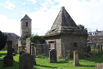 Penicuik - The Clerk mausoleum and old kirk, Penicuik