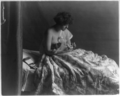 The Family Pet (woman with small dog playing solitaire 1913).png
