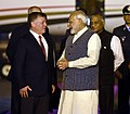 The King of Jordan His Majesty Abdullah II Bin Al-Hussein being welcomed by the Prime Minister, Shri Narendra Modi, on his arrival, in New Delhi.jpg