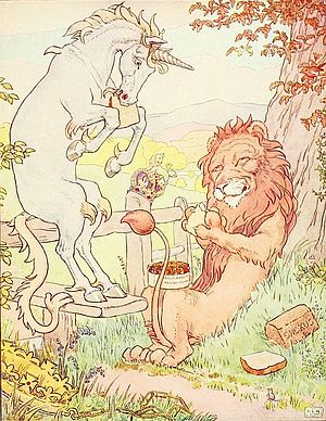 Lion and Unicorn from The Nursery Rhyme Book