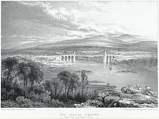 The Menai Bridge: from the Anglesey side
