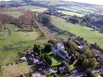 Torphichen Preceptory - Kite aerial photo of the Preceptory and church.