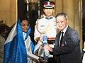 The President, Smt. Pratibha Devisingh Patil presenting Padma Bhushan Award to Prof. Tan Chung, at the Civil Investiture Ceremony-I, at Rashtrapati Bhavan, in New Delhi on March 31, 2010.jpg