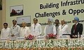 "The Prime Minister, Dr. Manmohan Singh at the Conference on ""Building Infrastructure Issues and Opportunities"", in New Delhi on October 07, 2006.jpg"