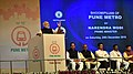 The Prime Minister, Shri Narendra Modi addressing at the foundation stone laying ceremony of the Pune Metro Project (Phase 1), in Pune on December 24, 2016.jpg