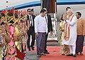 The Prime Minister, Shri Narendra Modi being received on his arrival at Bagan, Myanmar on September 06, 2017 (2).jpg