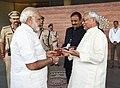 The Prime Minister, Shri Narendra Modi visiting the Bihar Museum, in Patna on October 14, 2017. The Chief Minister of Bihar, Shri Nitish Kumar is also seen.jpg