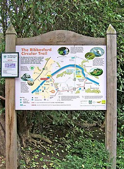The Ribbesford Circular Trail Signboard - geograph.org.uk - 962630