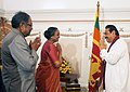 The Speaker, Lok Sabha, Smt. Meira Kumar calls on the Sri Lankan President, Mr. Mahinda Rajapaksa, in Colombo on February 12, 2011.jpg