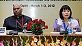 """The Union Minister for Labour and Employment, Shri Mallikarjun Kharge at the International Conference on """"Innovations in Public Employment Programme and Sustainable Inclusive Growth"""", in New Delhi on March 01, 2012.jpg"""