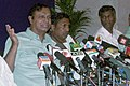 The Union Minister for Shipping, Road Transport and Highways, Shri T. R. Baalu addressing the media after reviewing National Highway Projects in Southern States, in Chennai on October 26, 2007.jpg