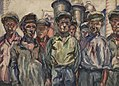 The Workers of the Voykov Kerch Metal Factory by Aristarkh Lentulov (1930).jpg