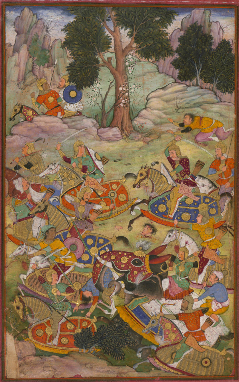The battle of Panipat and the death of Sultan Ibrāhīm, the last of the Lōdī Sultans of Delhi.jpg