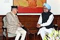 The former Prime Minister of Nepal, Shri Surya Bahadur Thapa meeting the Prime Minister, Dr. Manmohan Singh, in New Delhi on March 09, 2011.jpg