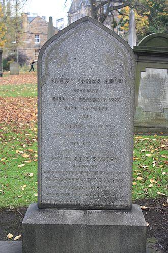 Thomas Henderson (astronomer) - The grave of Alexander James Adie, Greyfriars Kirkyard